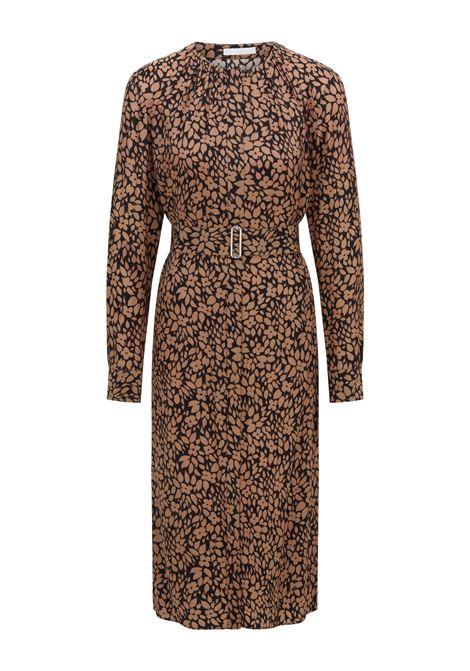 Silk dress with belt and digital print BOSS |  | 50459655960