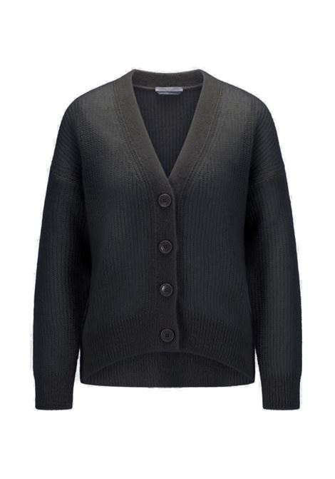 Relaxed fit cardigan in perforated mohair wool BOSS | Knitwear | 50460208001