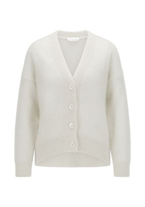 Relaxed fit cardigan in perforated mohair wool BOSS | Knitwear | 50460208118