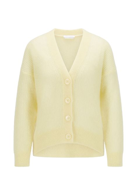 Relaxed fit cardigan in perforated mohair wool BOSS | Knitwear | 50460208745