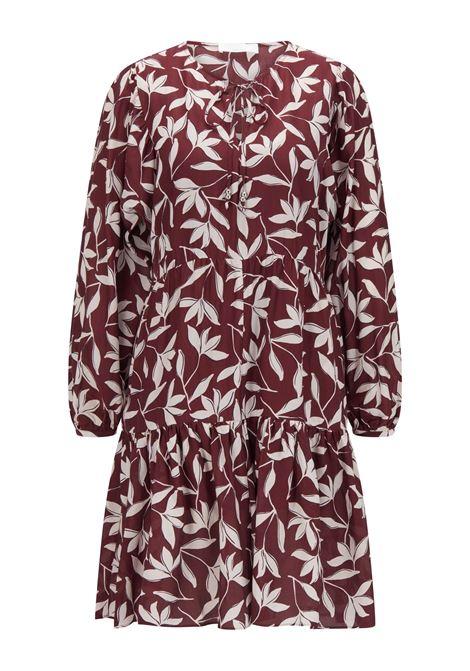 Vestito a tunica in crepe di seta a motivi floreali BOSS | Vestiti | 50460551966