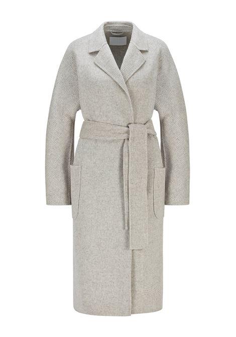 Cappotto con cintura in misto lana a motivi BOSS | Cappotti | 50461879962