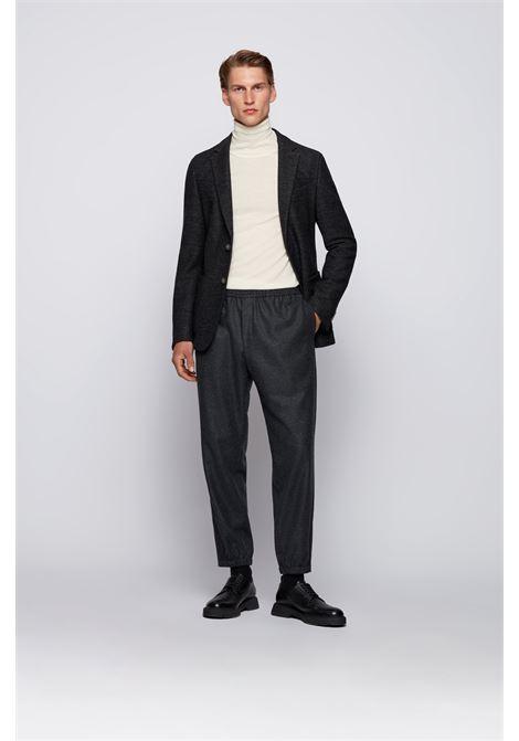 Slim fit jacket in patterned wool blend jersey BOSS | Blazers | 50464045061