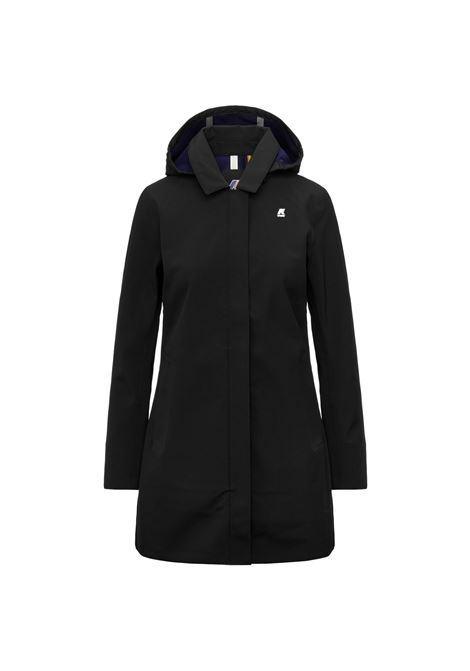 Mathy Bonded Slim fit waterproof coat K-WAY | Overcoat | K41128WA1I