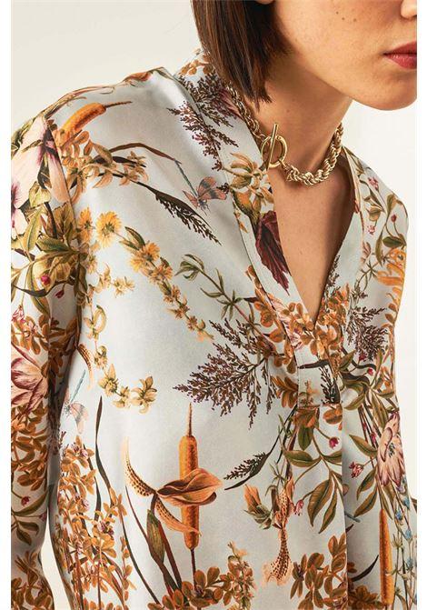 Blusa in twill di seta stampata MOMONI | Bluse | MOBL0018043
