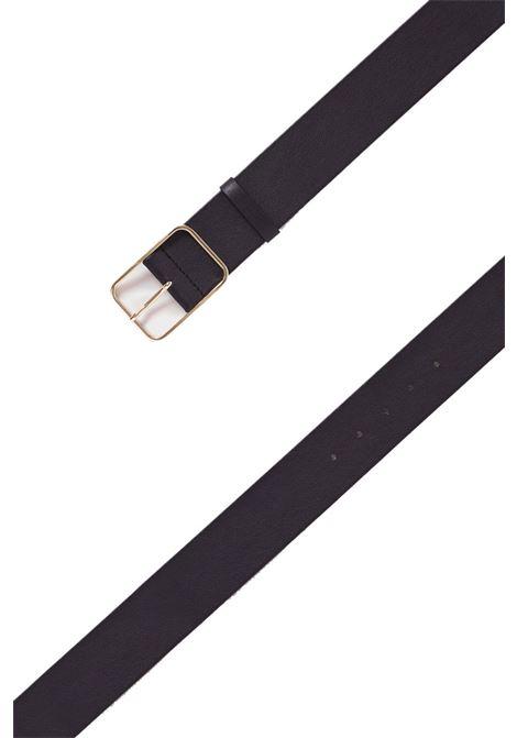 High-waisted leather belt MOMONI | Belts | MOBT0020990