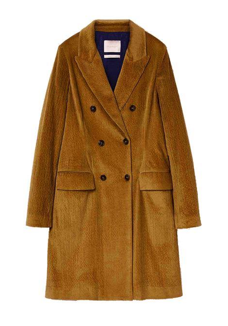 Cappotto in velluto millerighe tabacco MOMONI | Cappotti | MOC00010635