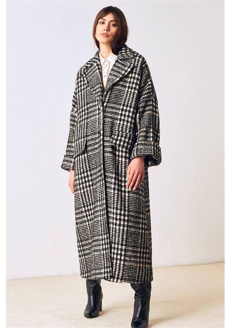 Cappotto in check di lana bicolore MOMONI | Cappotti | MOC00071010