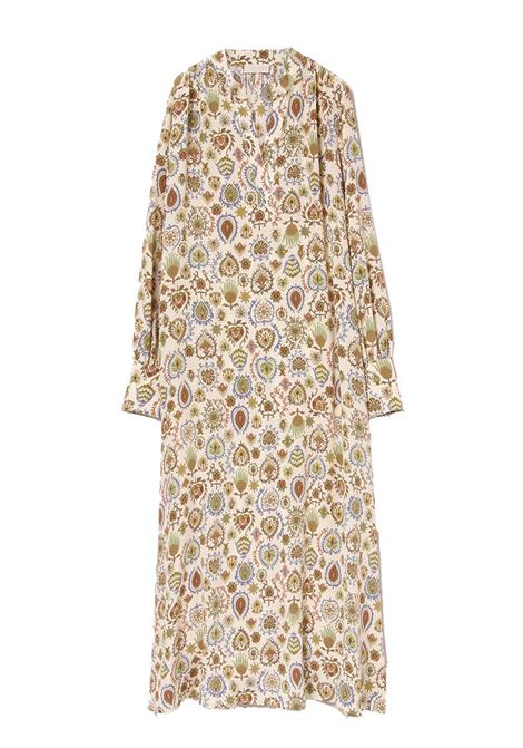 Loose dress in printed silk crepe de chine MOMONI |  | MODR0061175