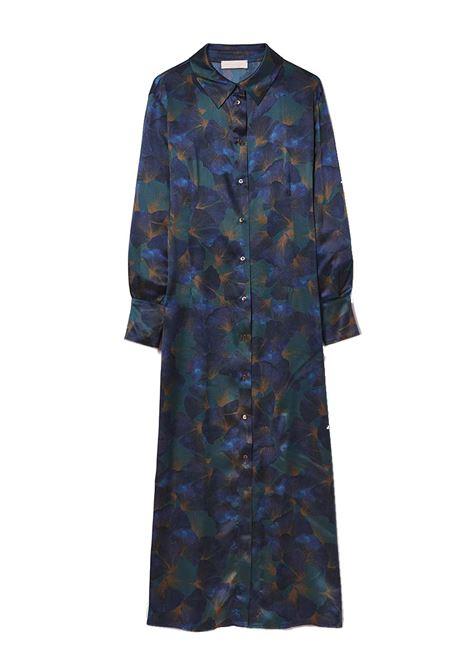 Chemisier lungo in raso di seta stampata stretch MOMONI | Vestiti | MODR0097077