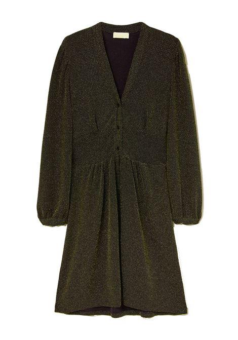 Short dress in black and gold lurex MOMONI |  | MODR0272000