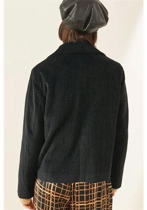 Giacca in velluto rocciatore stretch nero MOMONI | Giacche | MOJA0030990
