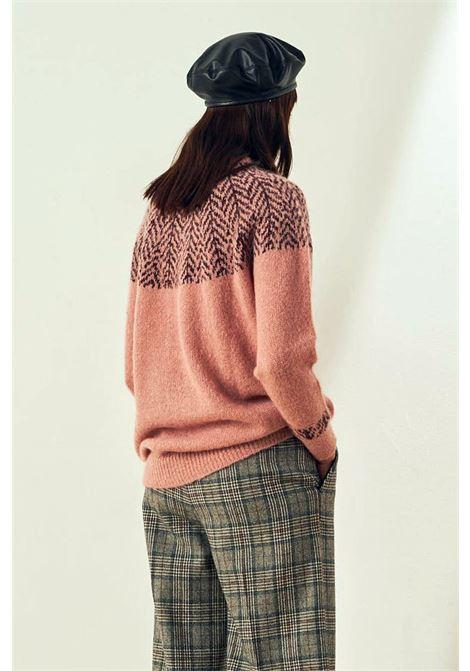 Maglione girocollo in alpaca e lana tweed MOMONI   Maglieria   MOKN0190412