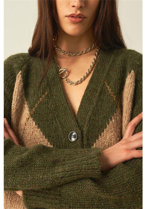 Cardigan corto in alpaca e cachemire con fili lurex MOMONI   Maglieria   MOKN0237003