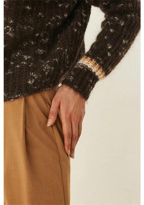 Maglione girocollo in mohair e lana merinos MOMONI   Maglieria   MOKN0250665