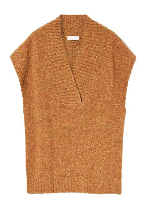 Gilet in filato tweed lurex di lana MOMONI   Maglieria   MOKN0260130