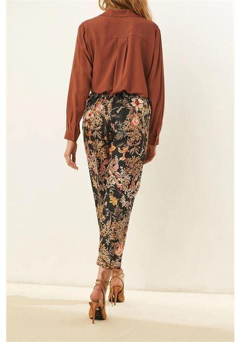 Pantalone in twill di seta stampata MOMONI | Pantaloni | MOPA0019030