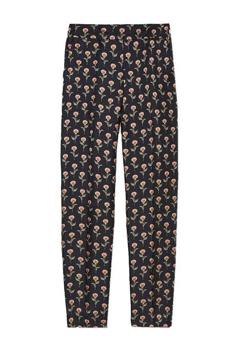 Pantalone in twill di seta stampata MOMONI | Pantaloni | MOPA0019905