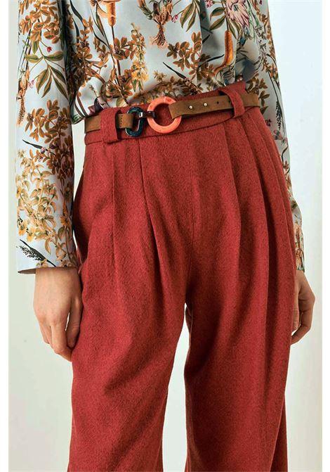 Pantalone a palazzo in garza di lana vergine MOMONI | Pantaloni | MOPA0030610