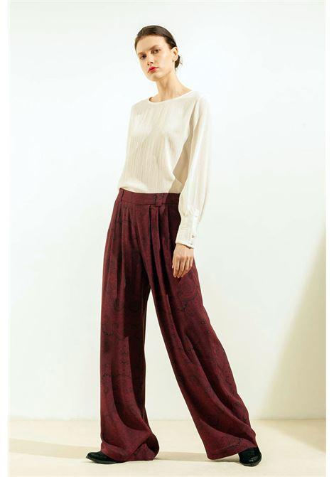 Pantalone a palazzo in crepe di viscosa stampato MOMONI | Pantaloni | MOPA0033142