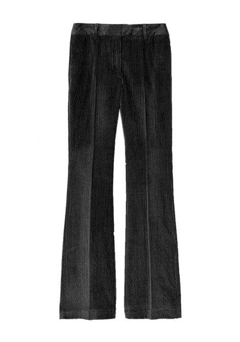 Pantalone flare crop in velluto stretch MOMONI | Pantaloni | MOPA0080990