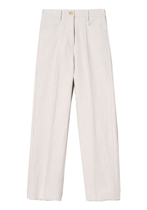 Pantalone crop in denim bianco MOMONI | Pantaloni | MOPA0130016