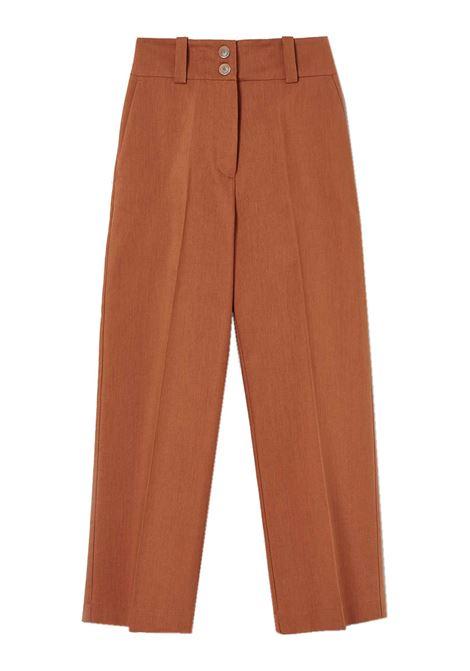 Pantalone dritto in tela di cotone e lana MOMONI | Pantaloni | MOPA0180631