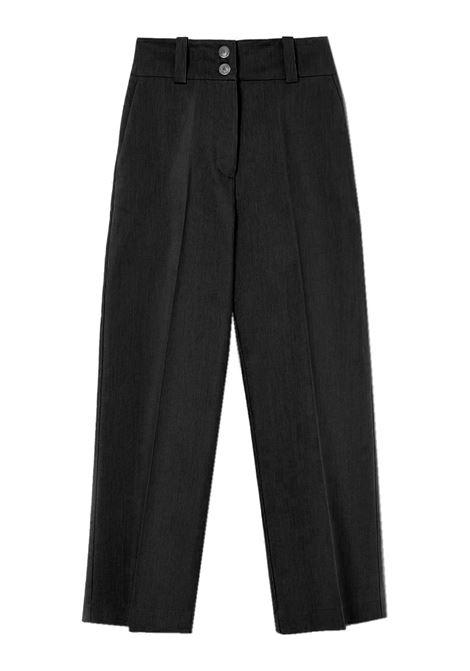 Pantalone dritto in tela di cotone e lana MOMONI | Pantaloni | MOPA0180990