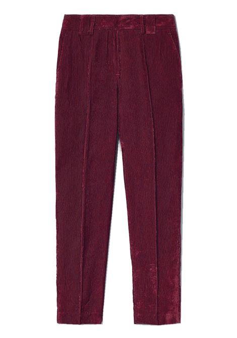 Pantalone a sigaretta in velluto a coste MOMONI | Pantaloni | MOPA0230451