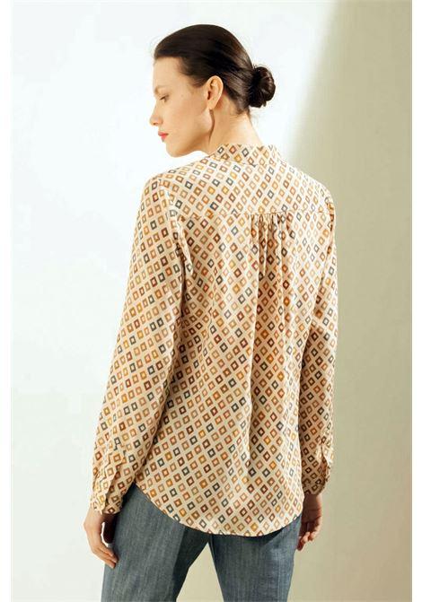 Camicia in crepe de Chine di seta stampata MOMONI | Camicie | MOSH0031008