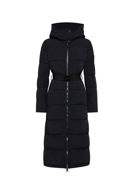 Long down jacket with belt in bi-stretch canvas PEUTEREY |  | PED4015NER