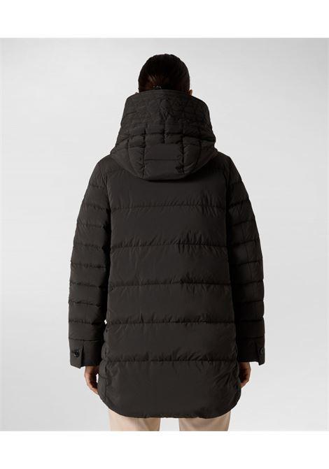 Piumino lungo oversize con pelliccia PEUTEREY | Piumini | PED4017NER