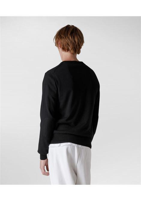 Maglia girocollo in cotone e lana PEUTEREY | Maglieria | PEU3638NER