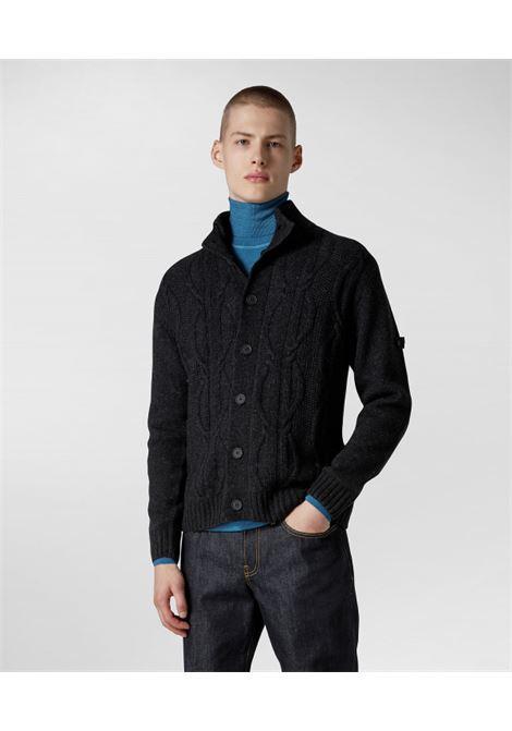 Cardigan in tricot di lana con disegno treccia PEUTEREY | Maglieria | PEU4162799