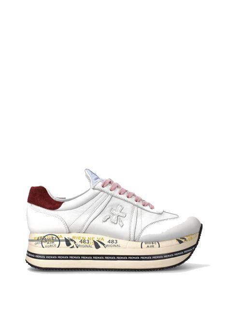 BETH 5345 - White sneakers with platform bottom PREMIATA   Sneakers   BETH5345