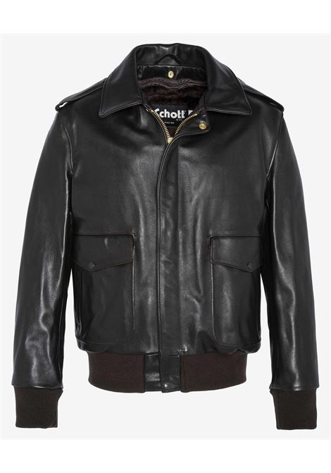 B-3 Bomber jacket LC1259 - Leather bomber SCHOTT N.Y.C | Jackets | 184SMBROWN