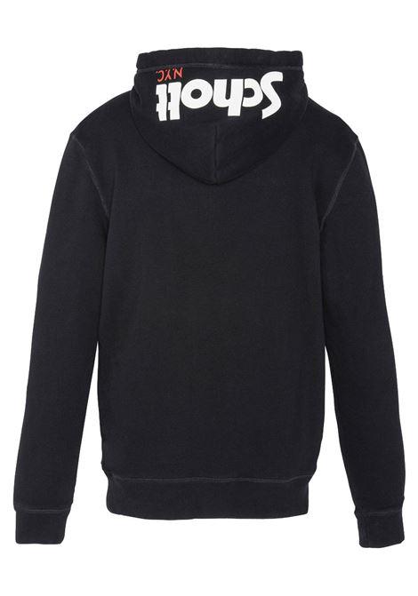 Hooded sweatshirt with Schott NYC® logo SCHOTT N.Y.C | Sweatshirt | SWHOODYBLACK