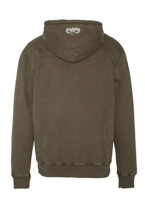 Military hooded sweatshirt SCHOTT N.Y.C | Sweatshirt | SWMALONE2KHAKI