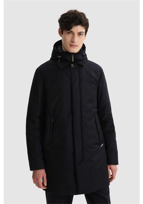 2 in 1 coat in fine Italian wool Loro Piana fabric WOOLRICH | Overcoat | CFWOOU0468MRUT24903989