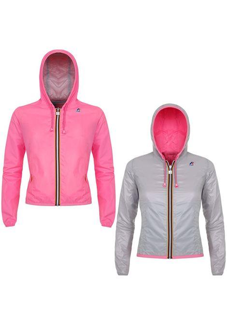Giubbotto impermeabile Lily plus double pink-grey. K- WAY K- WAY | Giubbini | K002EJ0C68