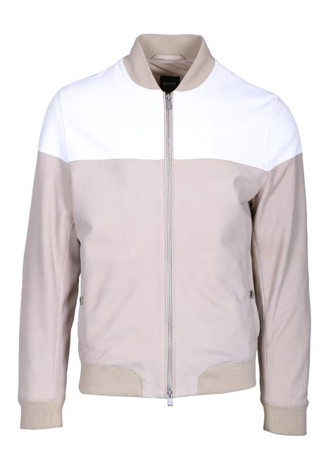Regular fit lamb leather bomber BOSS | Jackets | 50403366275