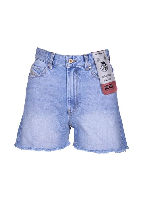 De-eiselle shorts with fringed edges. DIESEL DIESEL | Shorts | 00SQQ5 0LASP01
