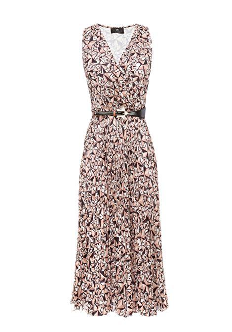 Star print midi dress. Elisabetta Franchi ELISABETTA FRANCHI | Dresses | AB68791E2894