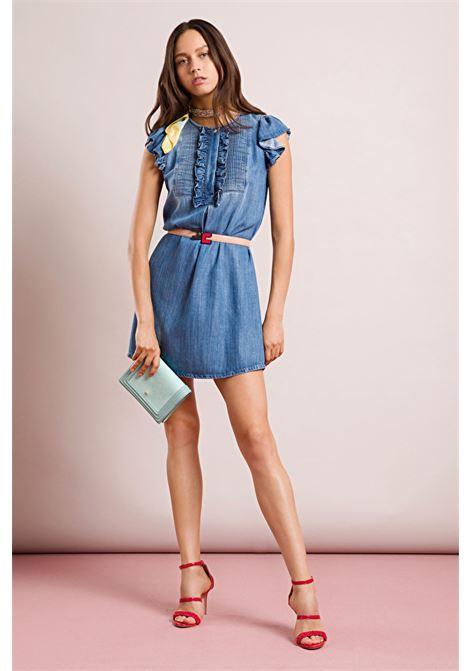 Denim mini dress. Elisabetta Franchi ELISABETTA FRANCHI      AJ03D91E2139