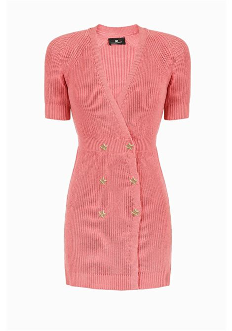Double-breasted knit dress. Elisabetta Franchi ELISABETTA FRANCHI | Dresses | AM04B91E2D89