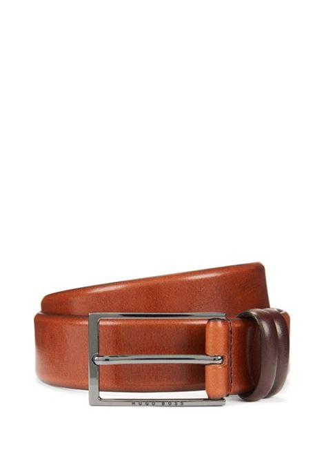 Cintura bicolore in pelle conciata al vegetale. BOSS | Cinture | 50239979214