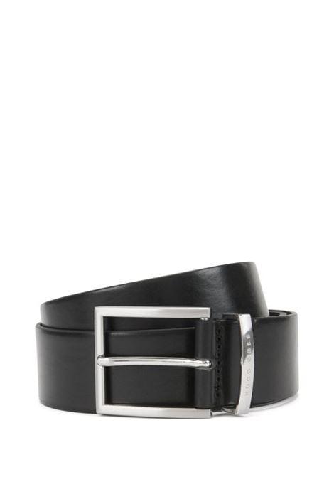 Cintura in pelle con fibbia ad ardiglione argento. HUGO BOSS | Cinture | 50292246001