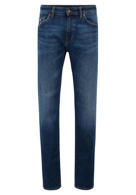 Jeans regular fit in denim elasticizzato HUGO BOSS | Jeans | 50302743421