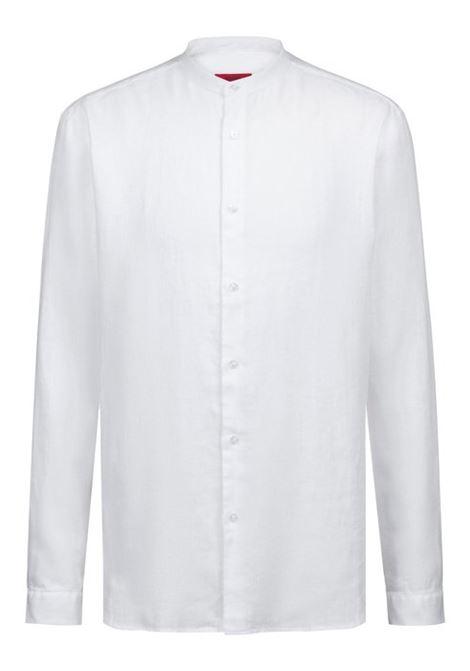 Camicia in lino con colletto rialzato HUGO BOSS | Camicie | 50383834199