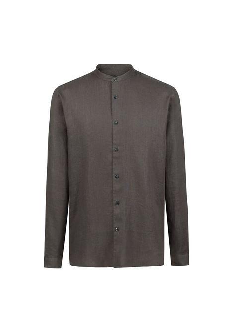 Camicia in lino con colletto rialzato. HUGO BOSS | Camicie | 50383834217